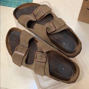 Birkenstock women's sandal Arizona suede taupe 39